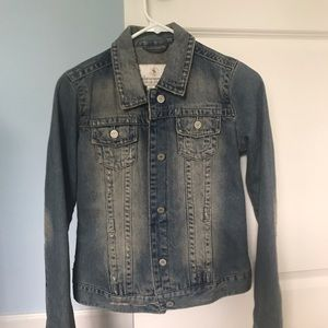Abercrombie & Fitch Jean Jacket Sweater Lined XL S